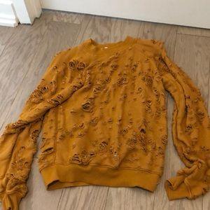 LNA Burnt Orange Sweatshirt Size XS